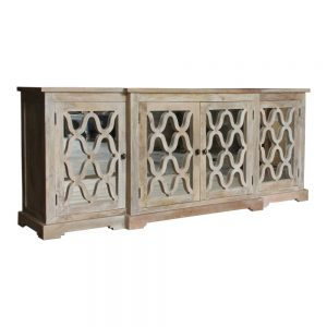 Trellis Sideboard in natural finish with mirrored doors