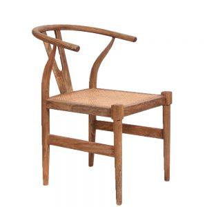 Wishbone Rattan Bottom Chair in a natural finish