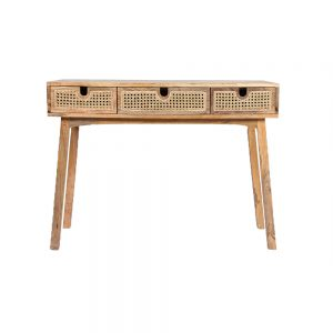 Sahara Cane Drawer Console with 3 drawers