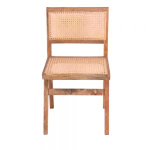 Daftar Dining Chair with rattan bottom and back in a natural finish